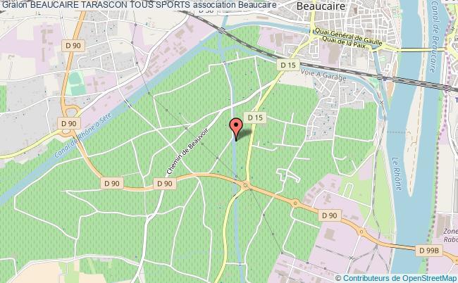 plan association Beaucaire Tarascon Tous Sports