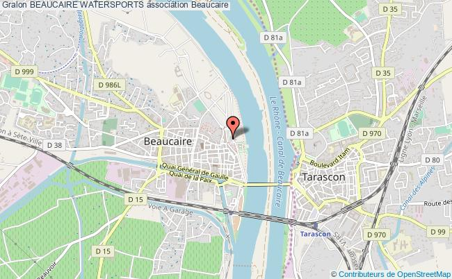 plan association Beaucaire Watersports
