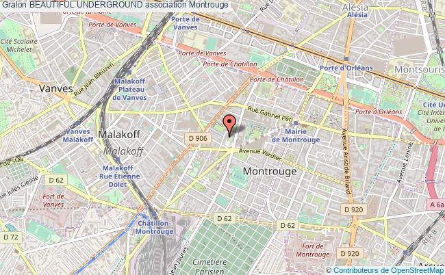 plan association Beautiful Underground Montrouge