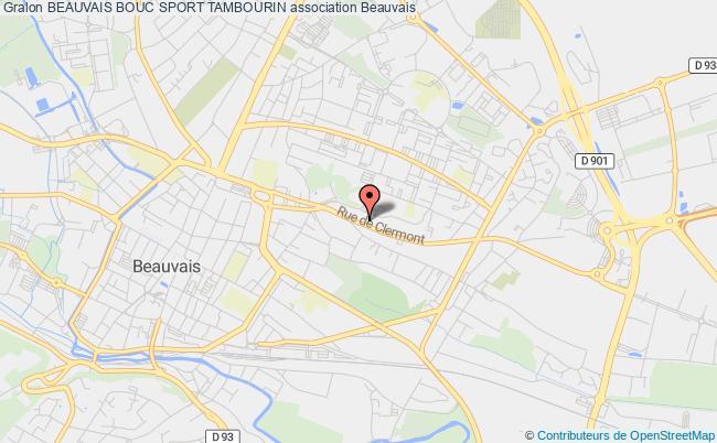 plan association Beauvais Bouc Sport Tambourin Beauvais
