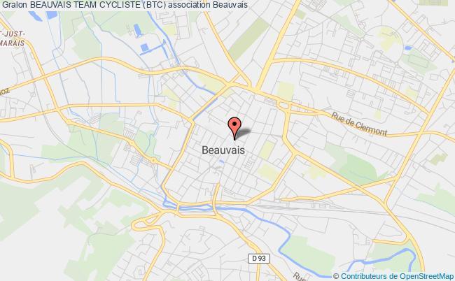 plan association Beauvais Team Cycliste (btc) Beauvais