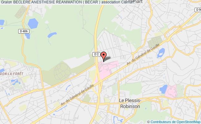 plan association Beclere Anesthesie Reanimation ( Becar )