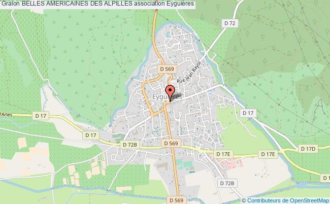 plan association Belles Americaines Des Alpilles