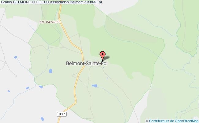 plan association Belmont Ô Coeur Belmont-Sainte-Foi
