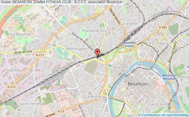 plan association Besancon Zumba Fitness Club : B.z.f.c. Besançon
