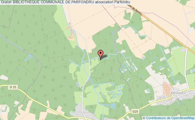 plan association Bibliotheque Communale De Parfondru