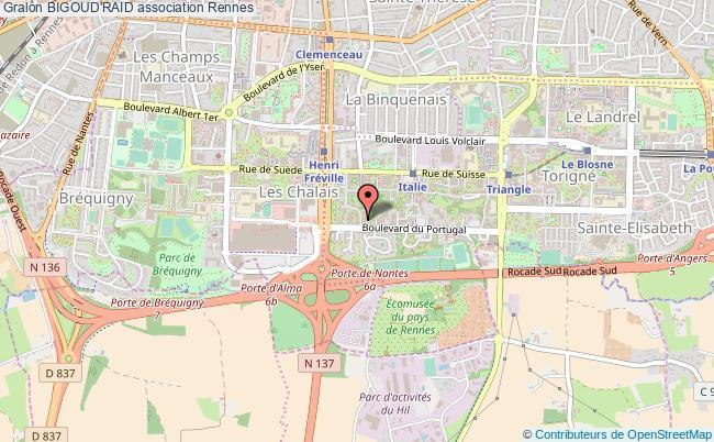plan association Bigoud'raid Rennes