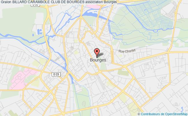 plan association Billard Carambole Club De Bourges Bourges