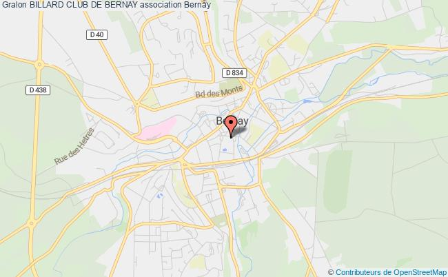plan association Billard Club De Bernay