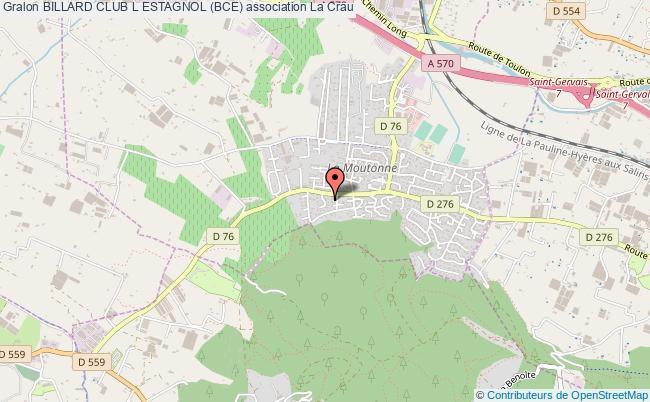 plan association Billard Club L Estagnol (bce)