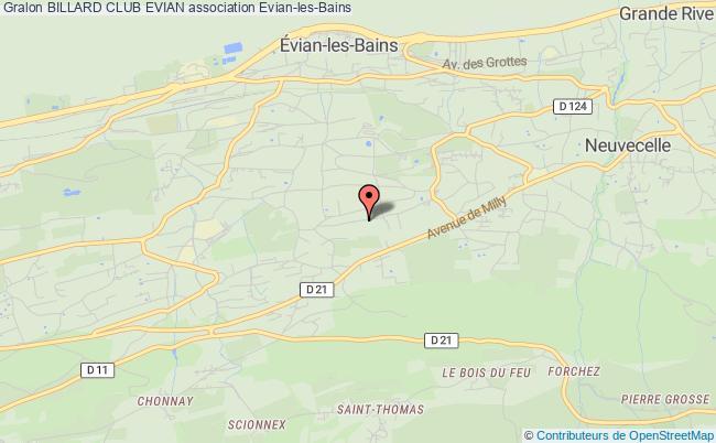 plan association Billard Club Pool Evian