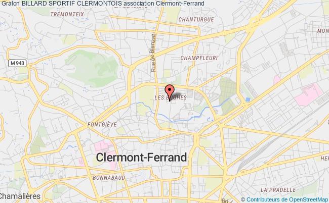 plan association Billard Sportif Clermontois