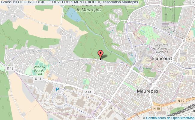 plan association Biotechnologie Et Developpement (biodev) Maurepas