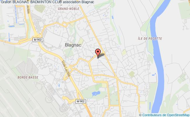 plan association Blagnac Badminton Club