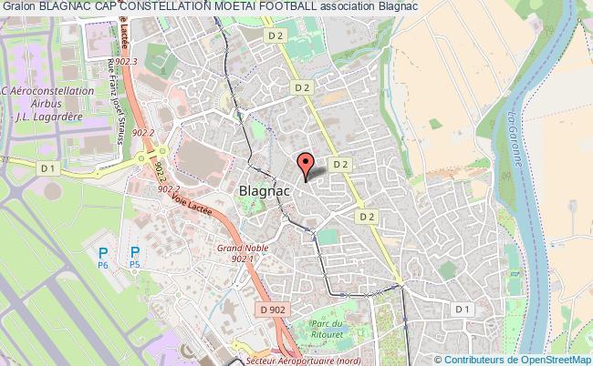 plan association Blagnac Cap Constellation Moetai Football