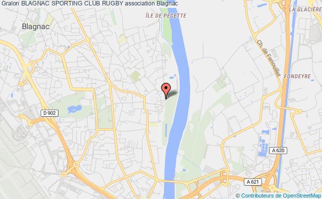 plan association Blagnac Sporting Club Rugby