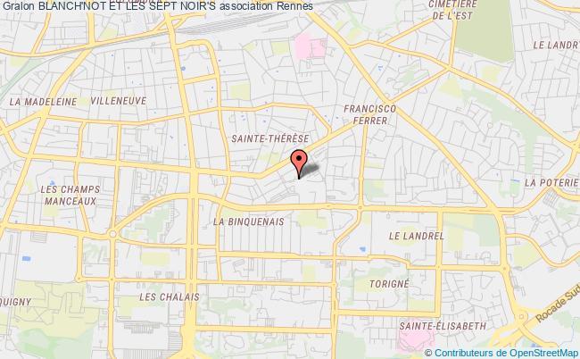 plan association Blanch'not Et Les Sept Noir's Rennes