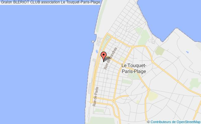 plan association Bleriot Club Le Touquet-Paris-Plage