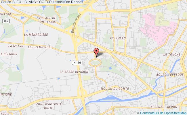 plan association Bleu - Blanc - Coeur Rennes