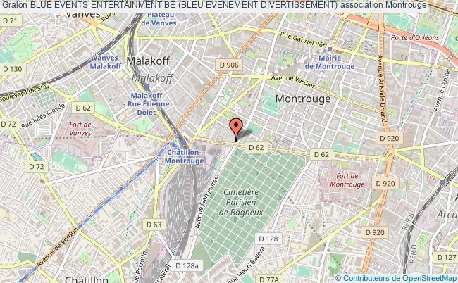 plan association Blue Events Entertainment Be (bleu Evenement Divertissement) Montrouge