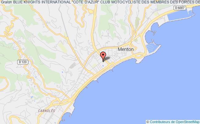 """plan association Blue Knights International """"cote D'azur"""" Club Motocycliste Des Membres Des Forces De L'ordre"""