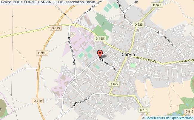 plan association Body Forme Carvin (club)