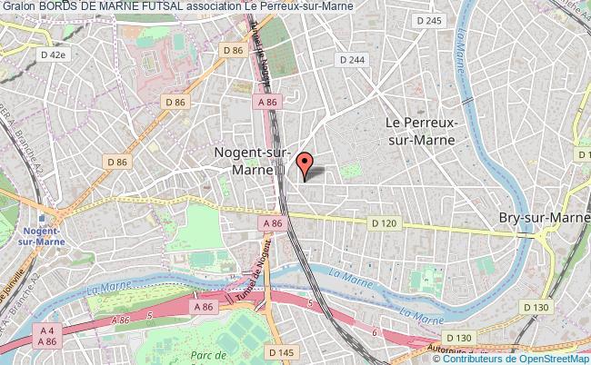 plan association Bords De Marne Futsal Le    Perreux-sur-Marne