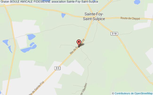 plan association Boule Amicale Fidesienne Sainte-Foy-Saint-Sulpice