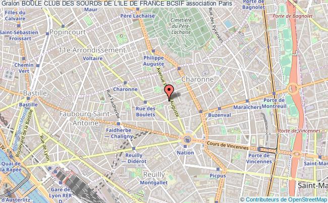 plan association Boule Club Des Sourds De L'ile De France Bcsif