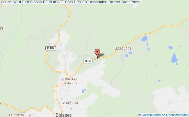 plan association Boule Des Amis De Boisset-saint-priest Boisset-Saint-Priest