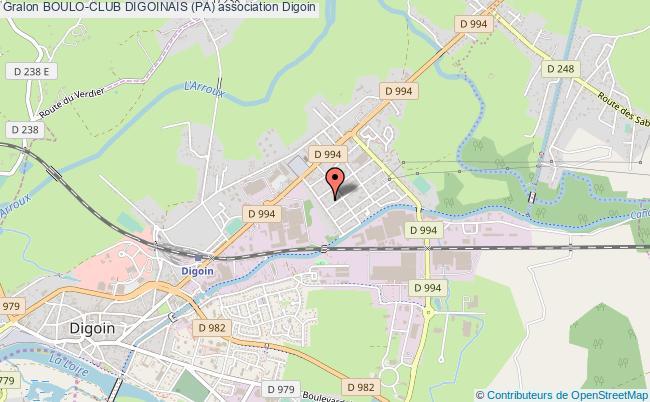 plan association Boulo-club Digoinais (pa) Digoin