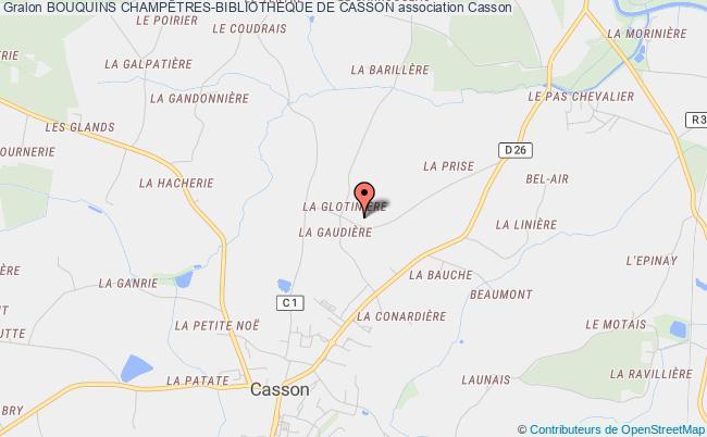 plan association Bouquins ChampÊtres-bibliotheque De Casson