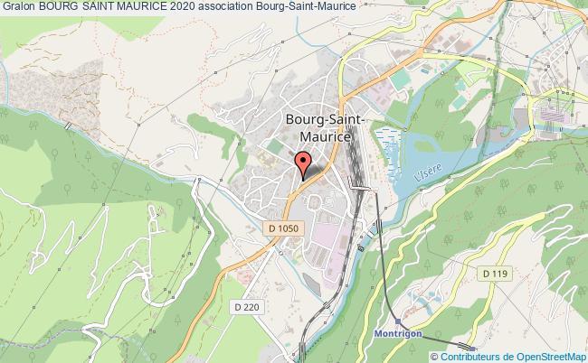 plan association Bourg Saint Maurice 2020