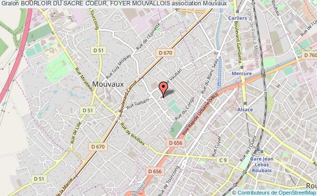 plan association Bourloir Du Sacre Coeur, Foyer Mouvallois