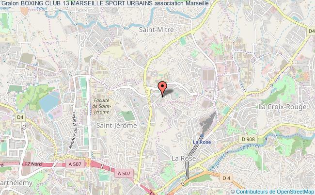 plan association Boxing Club 13 Marseille Sport Urbains