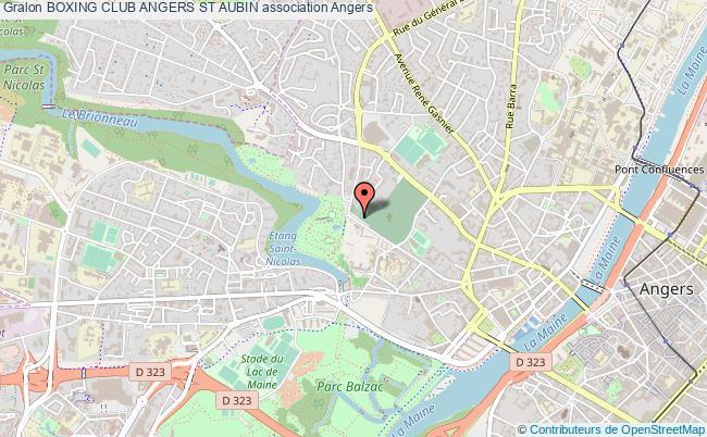 plan association Boxing Club Angers St Aubin Angers