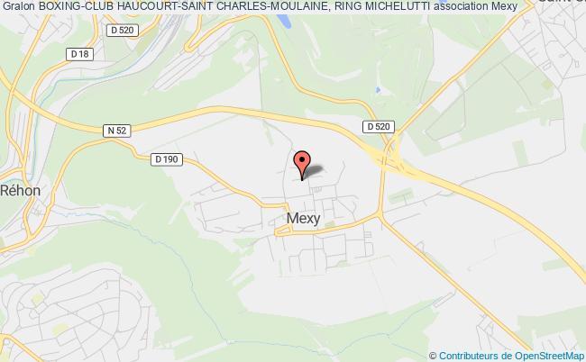 plan association Boxing-club Haucourt-saint Charles-moulaine, Ring Michelutti