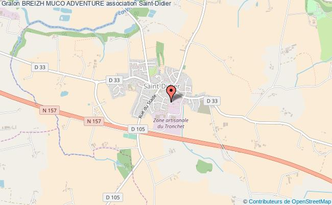 plan association Breizh Muco Adventure Saint-Didier