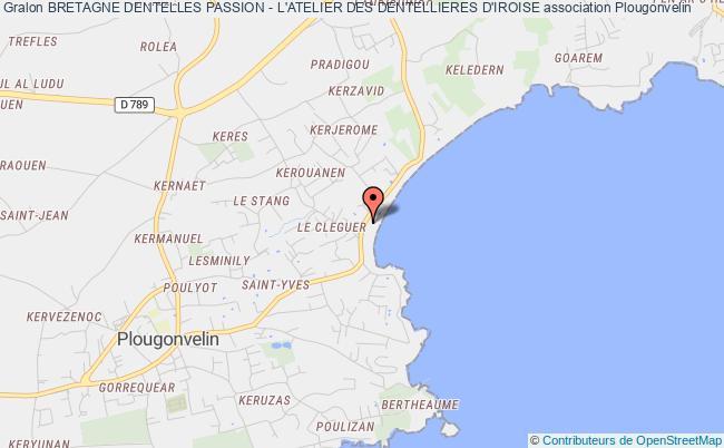 plan association Bretagne Dentelles Passion - L'atelier Des Dentellieres D'iroise