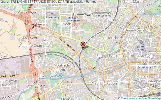 plan association Bretagne Esperance Et Solidarite Rennes