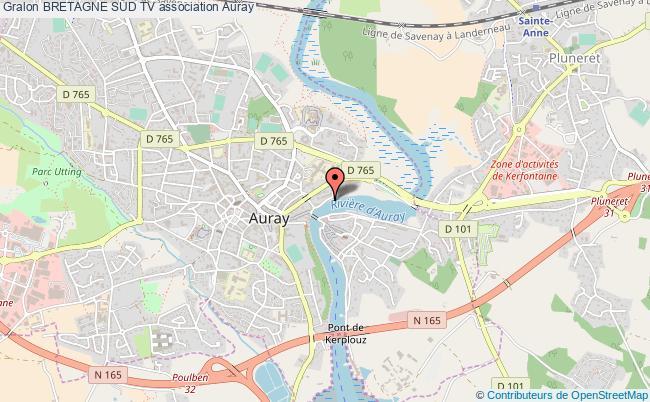 plan association Bretagne Sud Tv Auray