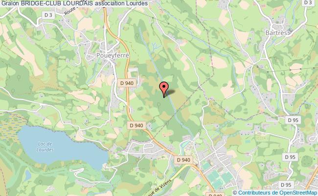 plan association Bridge-club Lourdais Lourdes