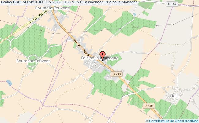 plan association Brie Animation - La Rose Des Vents Brie-sous-Mortagne