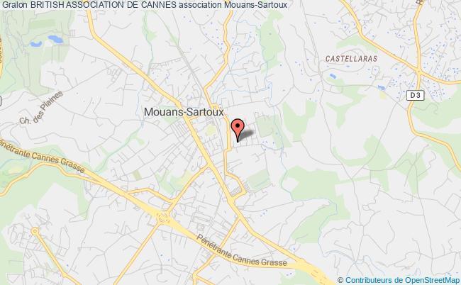 plan association British Association De Cannes Mouans-Sartoux