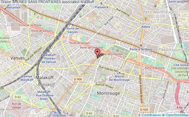 plan association Brunes Sans Frontieres Malakoff