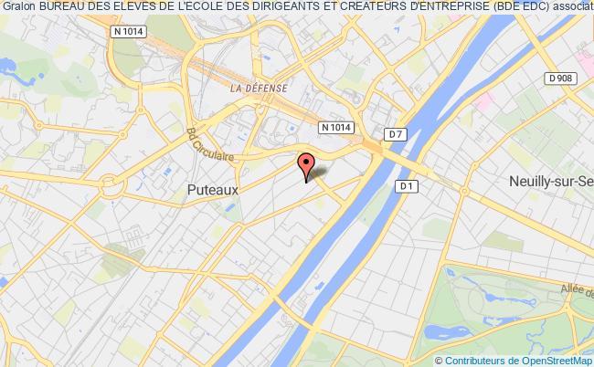 plan association Bureau Des Eleves De L'ecole Des Dirigeants Et Createurs D'entreprise (bde Edc)