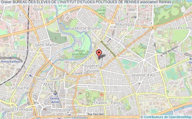 plan association Bureau Des Eleves De L'institut D'etudes Politiques De Rennes