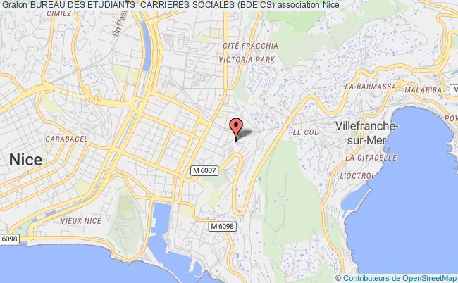 plan association Bureau Des Etudiants  Carrieres Sociales (bde Cs) Nice