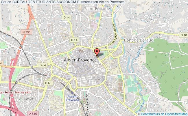 plan association Bureau Des Étudiants Aix'conomie