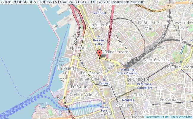 plan association Bureau Des Étudiants D'axe Sud École De CondÉ Marseille 2